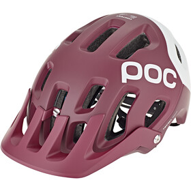 POC Tectal Race Spin Casque, propylene red/hydrogen white matt